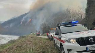 Пожар в департаменте Атлантические Пиренеи.