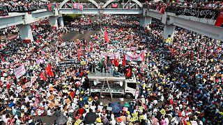 تجمع معترضان به کودتا در میانمار