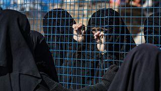 مخيم الهول الذي يديره الأكراد يحتجز فيه أقارب مشتبه بهم لمقاتلي تنظيم الدولة الإسلامية (داعش) في محافظة الحسكة شمال شرق سوريا