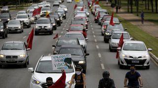 Protesto contra o governo brasileiro