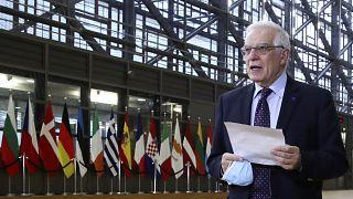 Жозеп Боррель перед заседанием Совета ЕС в Брюсселе