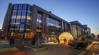 مبنى المجلس الأوروبي في بروكسل. 2020/12/10