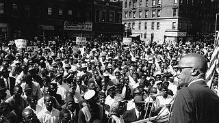 ABD'de sivil haklar alanında ve ırkçılığa karşı verdiği mücadele ile bilinen siyahi Müslüman aktivist Malcolm X (29 Haziran 1963/arşiv)