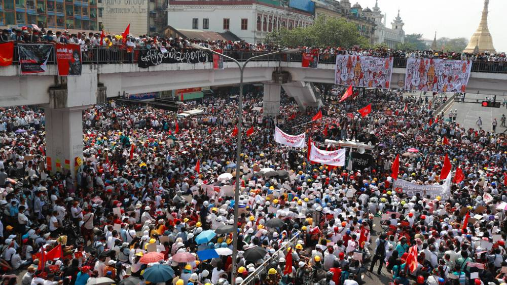 Myanmar military has Facebook page taken down after deadly protests