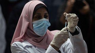 آغاز واکسیناسیون در نوار غزه