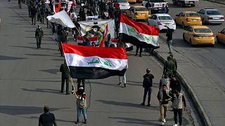 من مظاهرة في بغداد في تشرين الثاني/نوفمبر 2020