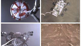 La NASA difunde un vídeo espectacular del amartizaje del Perseverance y los primeros sonidos
