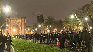 احتجاجات في برشلونة لليلة السابعة على اعتقال مغني الراب بابلو هاسل.