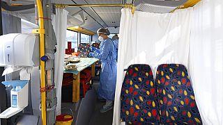 Mobiles Impfzentrum in Sachsen