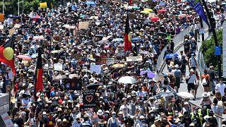 Tömeg Ausztrália nemzeti ünnepén Brisbane-ben
