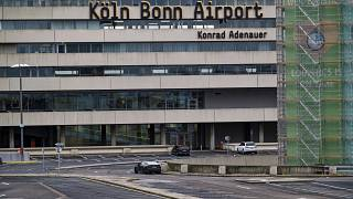 One of the suspect's heists took place at Cologne-Bonn airport, German authorities said.