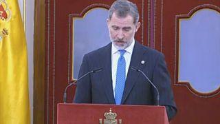 Captura de pantalla del discurso del rey Felipe VI
