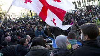 протесты в Тбилиси - 23 февраля 2021 г.