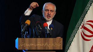 Mohammad Djavad Zarif, ministre des Affaires étrangères iranien, lors d'une conférence de presse à Téhéran le 23 février 2021