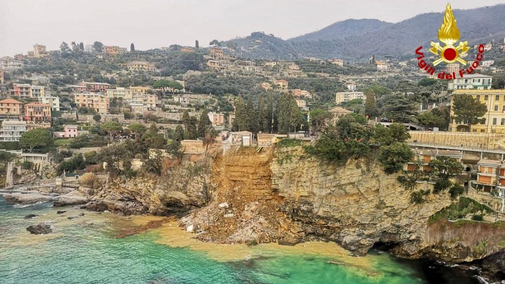 Italy: 200 coffins fall into sea after landslide in Liguria