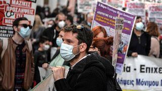 Tüntettek a görög egészségügyi dolgozók