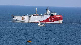 کشتی تحقیقاتی ترکیه در آب های مدیترانه
