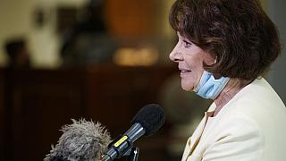 Chairman Anna Eshoo, D-Calif.. speaks to members of the media after a House Energy and Commerce Subcommittee on Health hearing Thursday, May 14, 2020