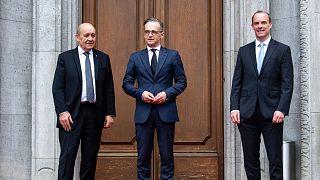 وزرای خارجه بریتانیا، آلمان و فرانسه