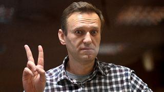 Alexej Nawalny im Gerichtssaal