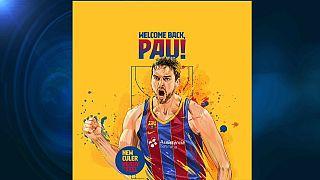 Tuit de bienvenida del FC Barcelona a Pau Gasol