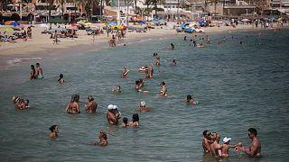 İspanya'da Palma de Mallorca sahili