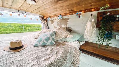 Alyssa and Clayton's vintage self-converted campervan