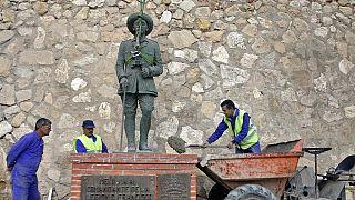 Diktatör Franco'nun Melilla'daki heykeli.