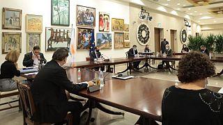 Σύσκεψη στο προεδρικό μέγαρο Κύπρου