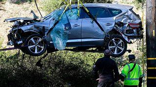 خودروی تایگر وودز پس از سانحه رانندگی
