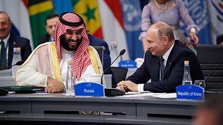ولادیمیر پوتین، رئیس جمهوری روسیه(راست) و محمد بن سلمان، ولیعهد سعودی
