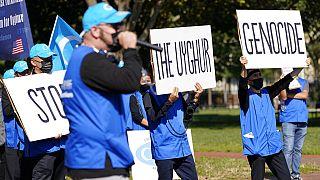 Une manifestation de soutien aux Ouïghours en octobre 2020 à Washington
