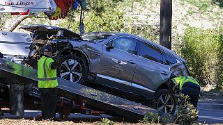 La voiture accidentée de Tiger Woods