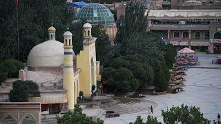 Moschee in der Stadt Kaschgar (Xinjiang)