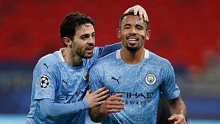 Bernardo Silva e Gabriel Jesus marcaram os golos do City na Alemanha