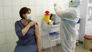 Первые прививки членам Киевской областной администрации 24 февраля 2021 г.