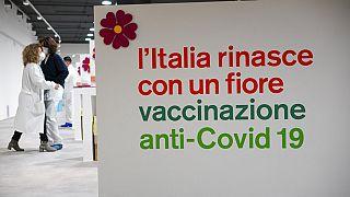 Un centre de vaccination à Rome, Italie, le 15 février 2021