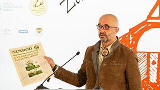 Kovács Zoltán beszédet mond az országos vadásznapon a Zala megyei Pölöskén