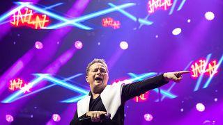 Geszti Péter a Jazz+Az együttes koncertjén a Papp László Budapest Sportarénában 2020. január 17-én.