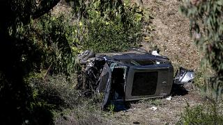 حادث انقلاب سيارة لاعب الصولجان تايغر وودز في لوس أنجلس. 2021/02/23