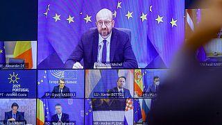 قمة الاتحاد الأوروبي المنعقدة عبر الفيديو/ الخميس 25 فبراير 2021.