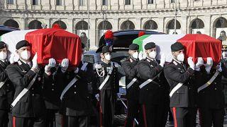 مراسم جنازة رسمية ووطنية لتشييع سفير إيطاليا الذي قتل في جمهورية الكونغو الديموقراطية