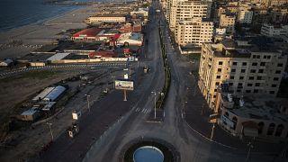 نمایی از منطقه ای که قرار است دوازه ورودی گاز به نوار غزه باشد