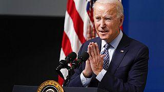 Cérémonie organisée par l'administration Biden pour marquer les 50 millions de vaccins administrés en 37 jours, 25 février 2021