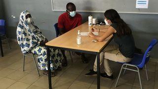 Dans un centre de vaccination sur l'île française de Mayotte, le 06/02/2021