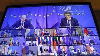 قمة الاتحاد الأوروبي المنعقدة عبر الفيديو  25 فبراير 2021