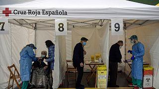 حملة التلقيح ضد الفيروس في اسبانيا