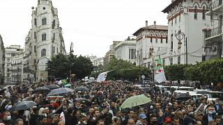 متظاهرون في الجزائر العاصمة