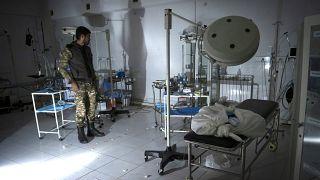 بیمارستان محلی مارتاکرت در منطقه قرهباغ پس از بمباران ارتش آذربایجان