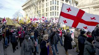 Neue Massendemonstration in Tiflis: Opposition plant Protest-Camp